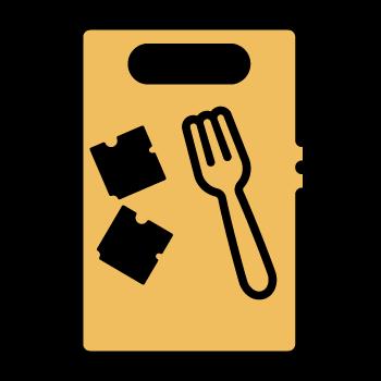 Deshacer queso con tenedor