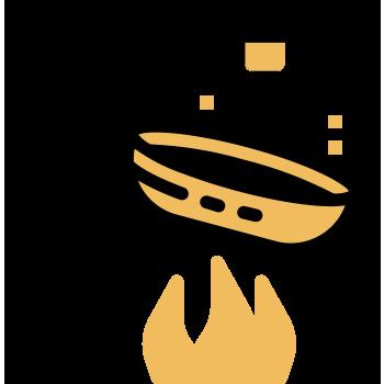alentar un chorrito de aceite y margarina Sello de Oro