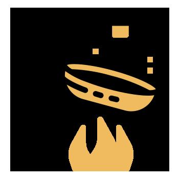 Freir ajos aji oregano perejil
