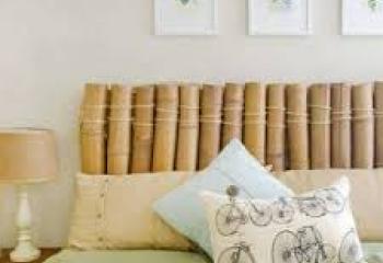 cama con cabecera de bambu