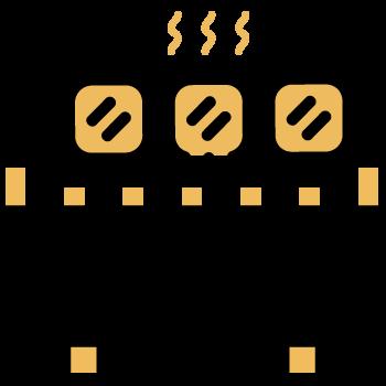 brochetas cocinadas