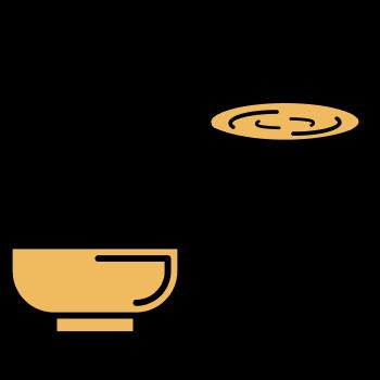 icono de dos bowl