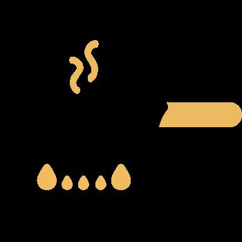 calentar aceite cocinero