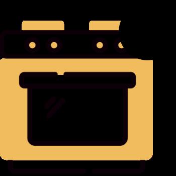 Icono de un horno de cocina