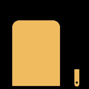 Icono de una tabla de cocina y un cuchillo