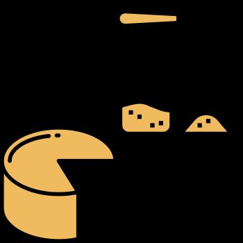 Icono queso y azucar