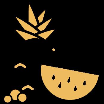 picar col y frutas