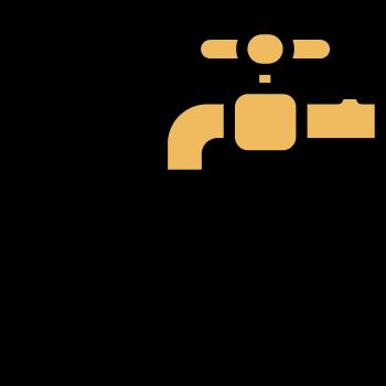 Icono de un caño con gotas de agua