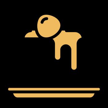 icono de hotcake con frutilla