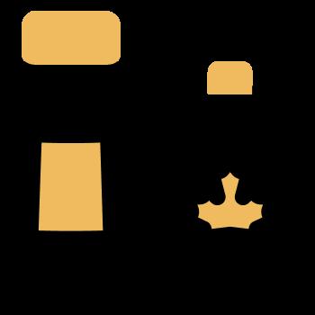 icono de salsa de chocolate y maple