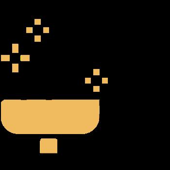 icono de yemas en cacerola