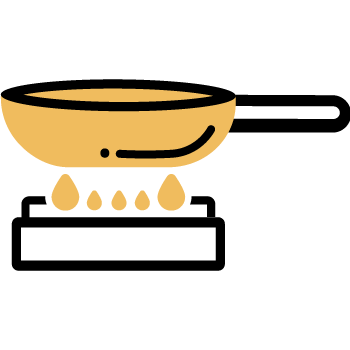 derretir la mantequilla co el aceite Cocinero