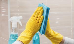 9 pasos para limpiar rápidamente el baño