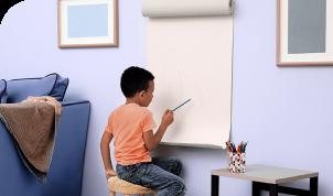 Murales de papel kraft para los pequeños