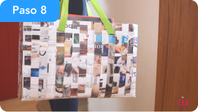 Bolsa reciclada hecha en ca