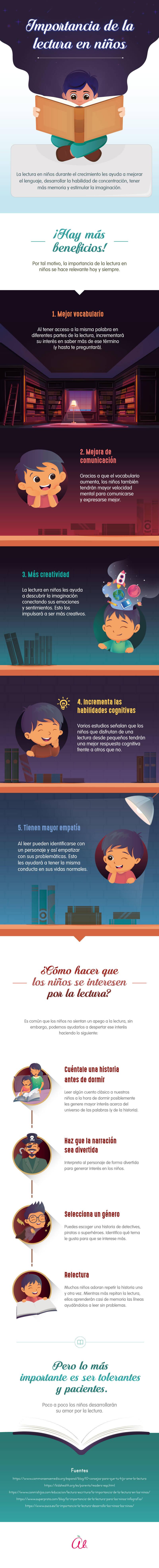 Importancia de la lectura en ninos