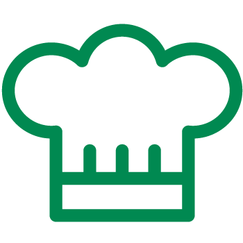 Gorro de chef verde